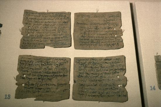 Vindolanda Letters, AD 92-120-Unknown-Giclee Print