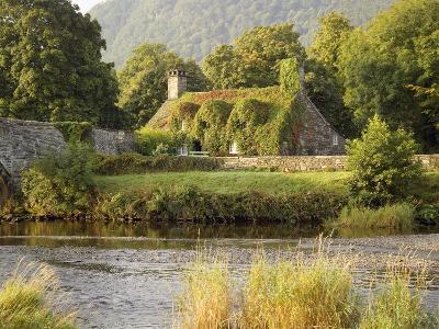 Vine-Covered Stone Cottage Near River Conwy-Richard Klune-Photographic Print