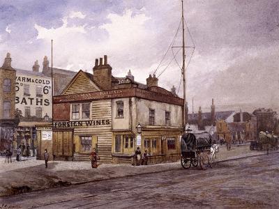Vine Tavern, Mile End Road, Stepney, London, (C1883)-John Crowther-Giclee Print