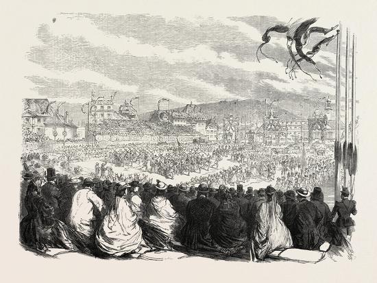 Vinedressers' Fete at Vevey, Switzerland, 1865--Giclee Print