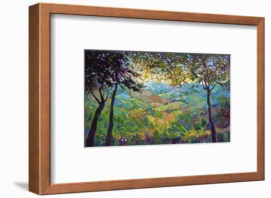 Vineyard View-Erin Hanson-Framed Art Print