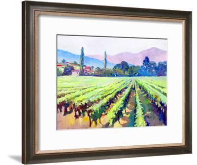 Vineyards In Napa Valley California-Suren Nersisyan-Framed Art Print