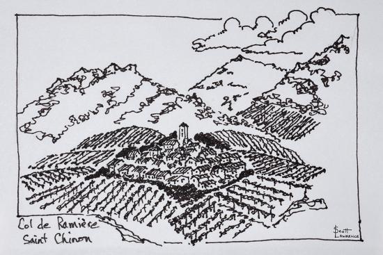 Vineyards in the Col de la Ramiere, Saint-Chinian, Languedoc region, Southern France-Richard Lawrence-Premium Photographic Print
