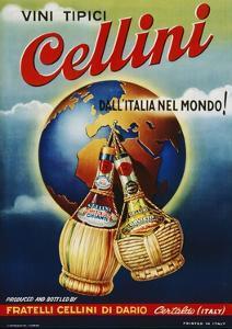 Vini Tipici Cellini Wine Advertisement Poster