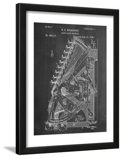 Vintage 1888 Calculator Patent--Framed Art Print