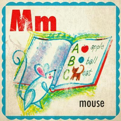 Vintage ABC- M--Giclee Print