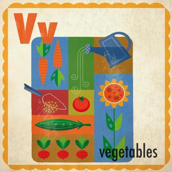 Vintage ABC- V--Giclee Print
