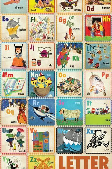 Vintage ABC--Premium Giclee Print