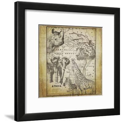 Vintage Africa - Square-Lebens Art-Framed Giclee Print