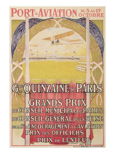 Vintage Air Show Poster--Art Print