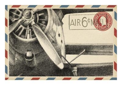 Vintage Airmail II-Ethan Harper-Art Print