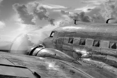 Vintage Airplane in Flight-Nick Vedros & Assoc.-Photographic Print