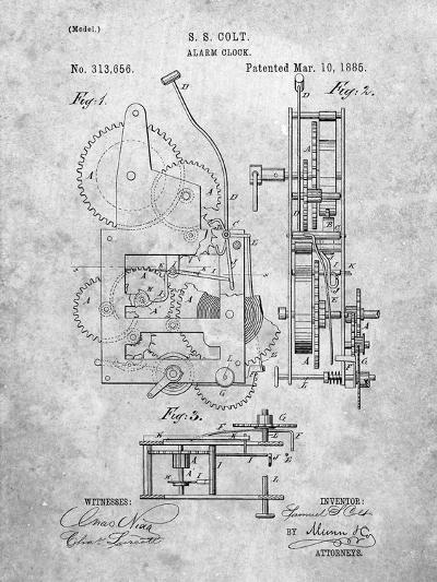 Vintage Alarm Clock Patent 1885-Cole Borders-Art Print