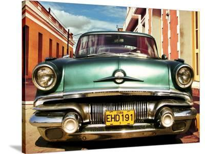 Vintage American car in Habana, Cuba-Gasoline Images-Stretched Canvas Print