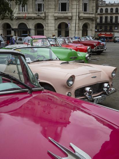 Vintage American Cars, Havana, Cuba, West Indies, Caribbean, Central America-Yadid Levy-Photographic Print