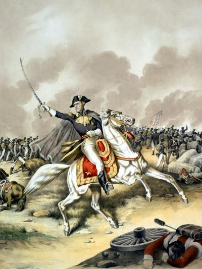 Vintage American History Print of General Andrew Jackson On Horseback-Stocktrek Images-Photographic Print