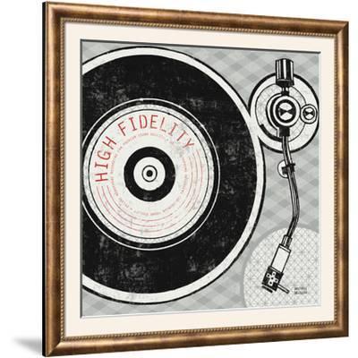 Vintage Analog Record Player-Michael Mullan-Framed Photographic Print