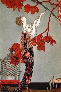 1914 Oriental Red, George Barbier by Vintage Apple Collection