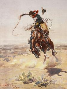 Charles Marion Russell - a Bad Hoss by Vintage Apple Collection