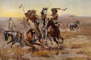 Charles Marion Russell - Souix Blackfeet by Vintage Apple Collection