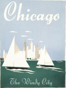 Chicago Windy City by Vintage Apple Collection