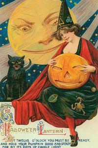 Hallow Witch Pumpkin Cat by Vintage Apple Collection