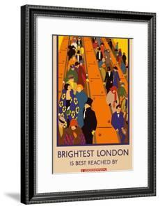 London Underground Brightest London by Vintage Apple Collection