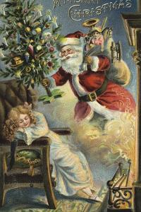 Merry Christmas Santa by Vintage Apple Collection