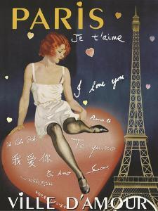 Paris I Love You by Vintage Apple Collection