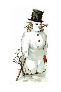 Snowman by Vintage Apple Collection