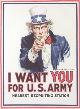 Vintage Army Recruiting Poster