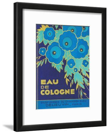 Vintage Art Deco Label, Eau de Cologne du Chardon Bleu