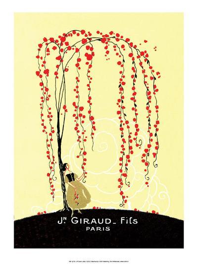 Vintage Art Deco Label, Giraud, Paris--Art Print