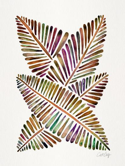 Vintage Banana Leaves-Cat Coquillette-Giclee Print