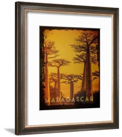 Vintage Baobab Trees in Madagascar, Africa-Take Me Away-Framed Art Print
