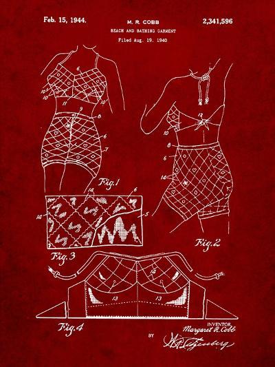 Vintage Bathing Suit Patent 1940-Cole Borders-Art Print