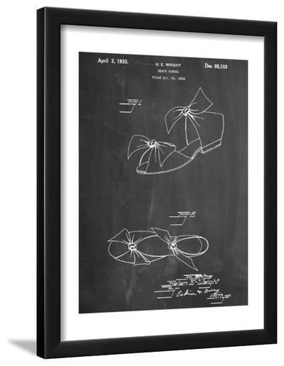 Vintage Beach Sandal 1934 Patent--Framed Art Print