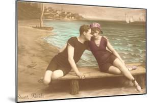 Vintage Beachgoing Couple, Stuart, Florida