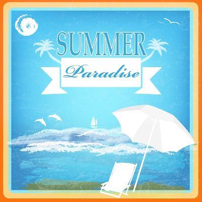 Vintage Beautiful Sea Travel Background-Alex150770-Art Print