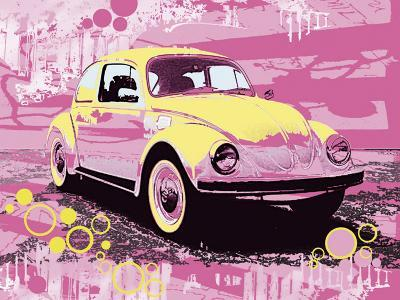 Vintage Beetle-Michael Cheung-Art Print