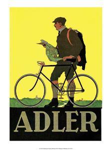 Vintage Bicycle Poster, Adler
