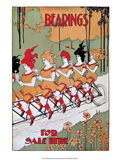 Vintage Bicycle Poster, Bearings--Art Print
