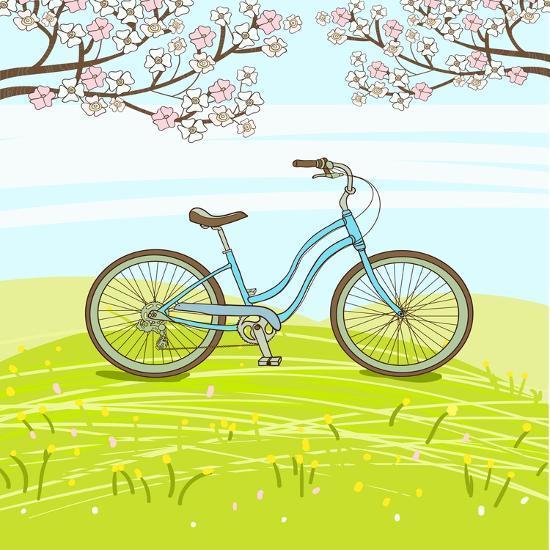 Vintage Bicycle-lolya1988-Art Print