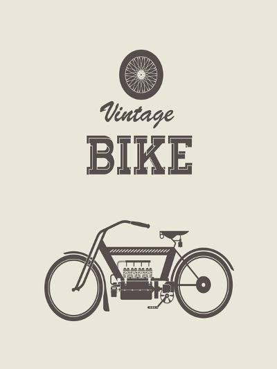 Vintage Bike-vector pro-Art Print
