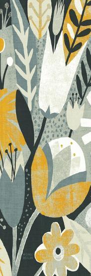 Vintage Bouquet Yellow Panel II-Michael Mullan-Premium Giclee Print