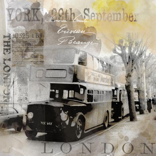 Vintage Britain - Square-Lebens Art-Art Print