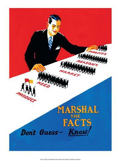 Vintage Business Don't Guess- Know!--Art Print