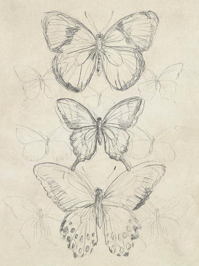 Vintage Butterfly Sketch I-June Erica Vess-Art Print
