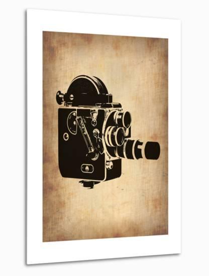 Vintage Camera 3-NaxArt-Metal Print