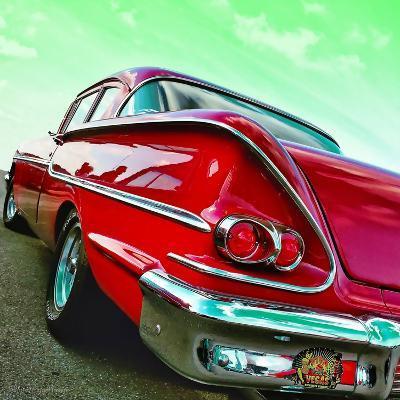Vintage Car in America Rear View-Salvatore Elia-Photographic Print